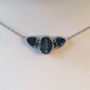 Jewelry - Blue Topaz and Diamond Accent Necklace